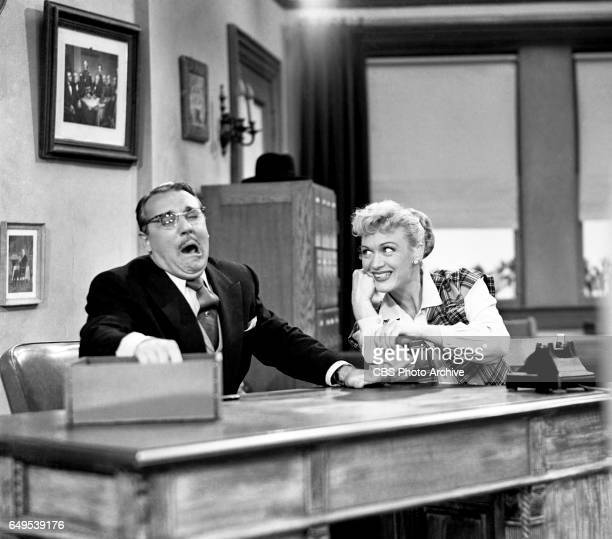 Gale Gordon and Eve Arden star in the CBS television program Our Miss Brooks episode titled Living Statues originally broadcast November 7 1952 Image...