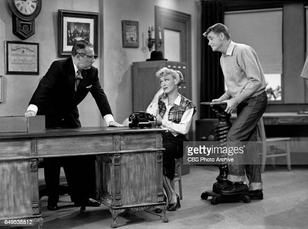 Gale Gordon Eve Arden and Richard Crenna star in the CBS television program Our Miss Brooks episode titled Living Statues originally broadcast...