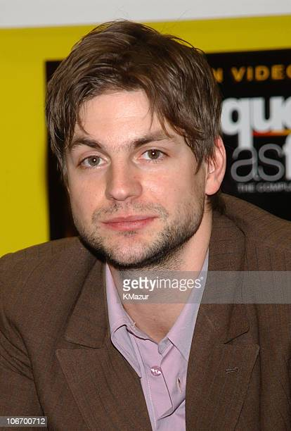 Gale Harold during Showtimes 'Queer as Folk' cast stop by Tower Records in NYC to sign DVD VHS of the first season at Tower Records in New York City...
