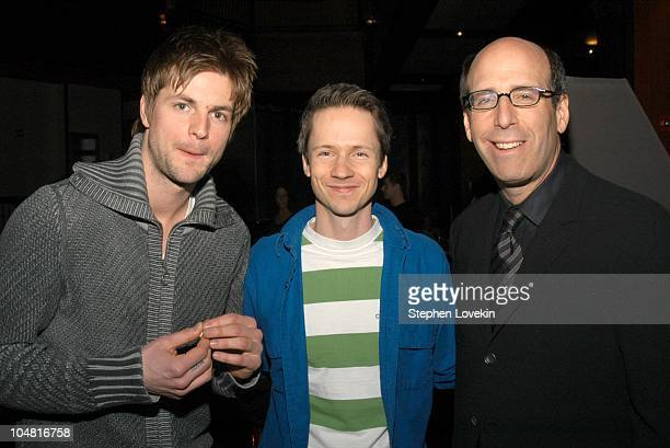 Gale Harold from Queer as Folk John Cameron Mitchell and Matt Blank Chairman and CEO of Showtime Networks