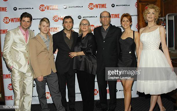 Gale Harold Randy Harrison Scott Lowell Sharon Gless Showtime Chairman and CEO Matt Blank Michelle Clunie and Thea Gill at the Motorolasponsored New...