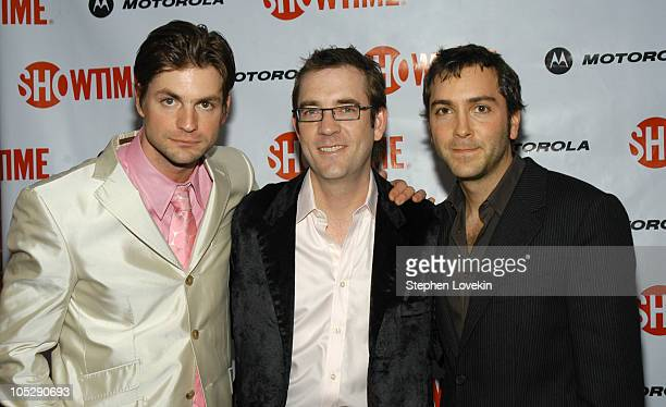 Gale Harold Ted Allen and Scott Lowell at the Motorolasponsored New York Premiere of Showtime's 'Queer as Folk'
