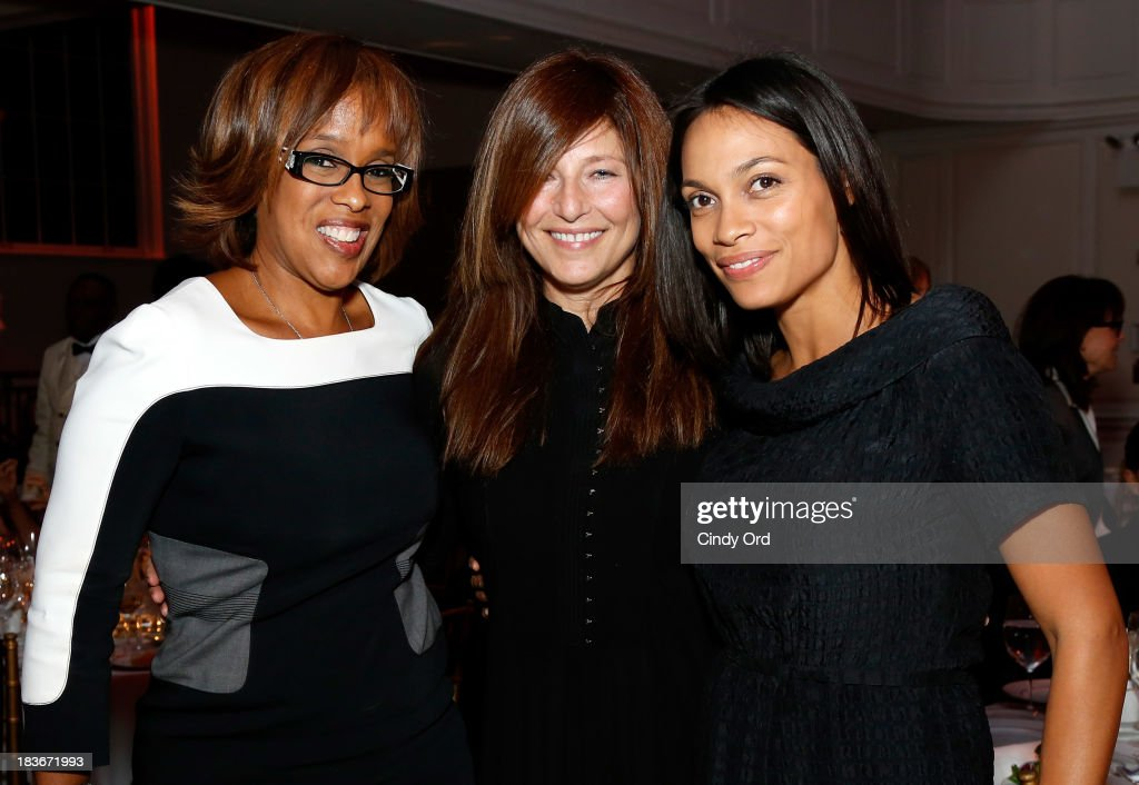 Gale King, Catherine Keener, and Rosario Dawson attend the 2013 Women's Media Awards on October 8, 2013 in New York City.