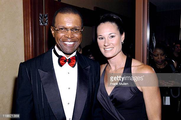 Gale Sayers and Jennifer Azzi during OverTime Magazine's OT X Awards at Omni Hotel in Atlanta Georgia United States