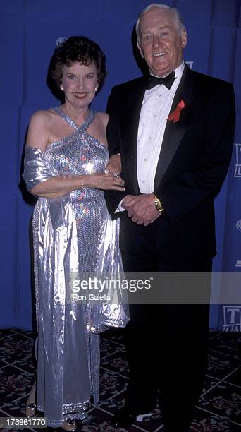 Gale Storm and Alan Young attend 50th Annual Creative Arts Emmy Awards on August 29 1998 at the Pasadena Civic Auditorium in Pasadena California