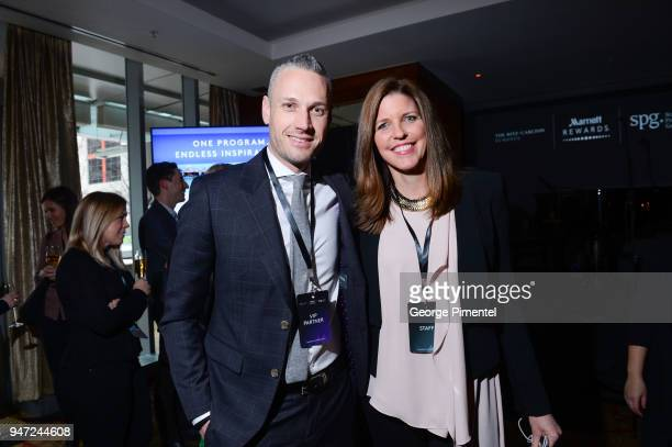 Galen Davies Sr Director Strategy and Partnership Development MLSE and Michelle Bozoki VP Brand Marketing Digital Marriott Canada attend the...