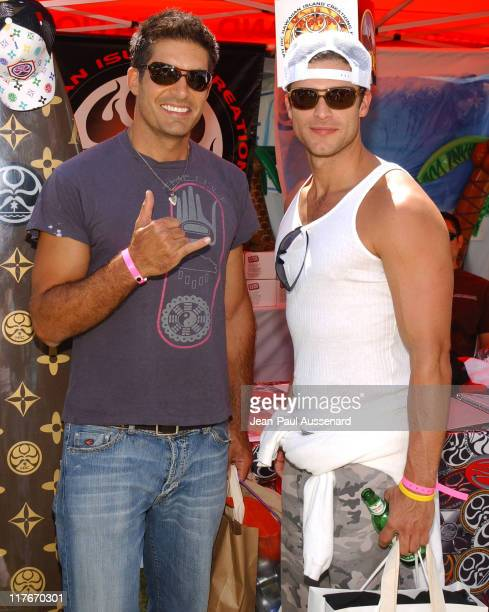 Galen Gering and Greg Vaughan at Hawaiian Island Creations Photo by JeanPaul Aussenard/WireImage for Silver Spoon