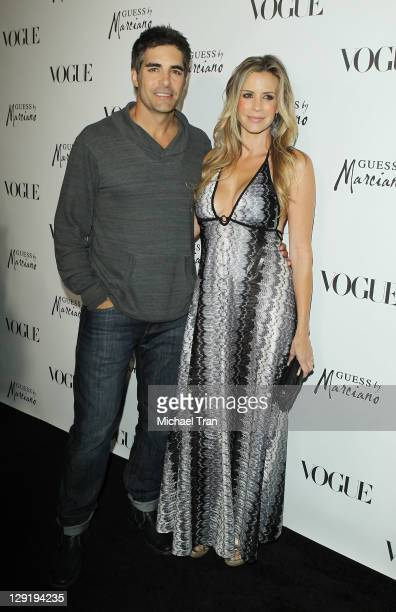 Galen Gering and Jenna Gering arrive at the GUESS By Marciano VOGUE Holiday Collection launch party held at Mr C Beverly Hills on October 13 2011 in...