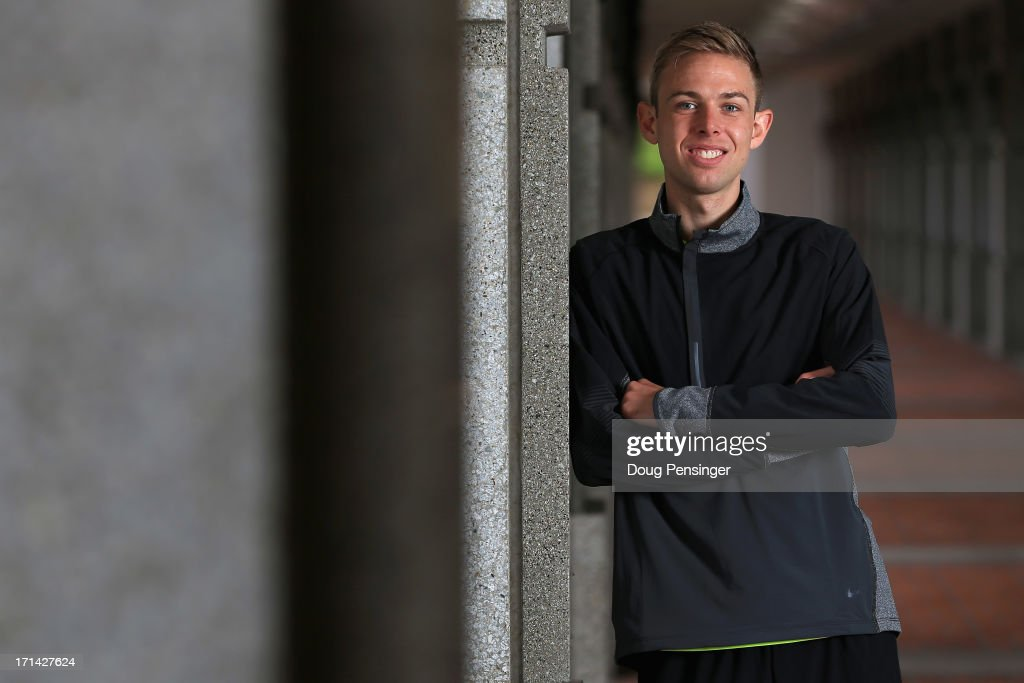 Galen Rupp, a member of the Oregon Project, poses for a portrait on the Nike campus on April 13, 2013 in Beaverton, Oregon. Rupp is a distance runner on the USA Track and Field Team.