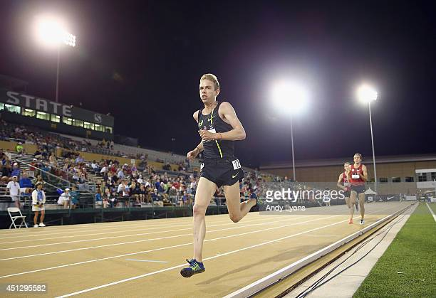 Galen Rupp runs to victory in the Men's 10000 Meter Run on day 2 of the USATF Outdoor Championships at Hornet Stadium on June 26 2014 in Sacramento...