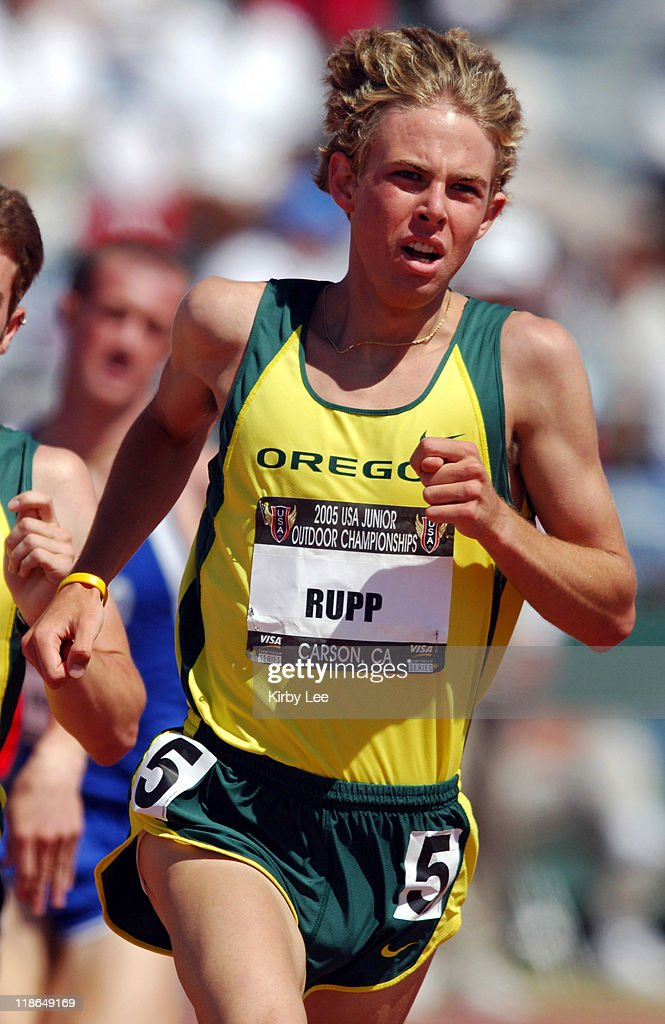 Galen Rupp wins Junior 1,500-meter heat in 3:56.89 at the USA Track & Field Championshps at the Home Depot Center in Carson, CA, Friday, June 24, 2005.