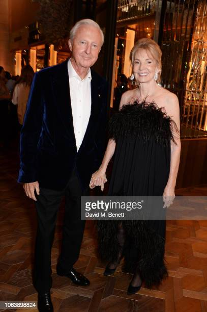 Galen Weston and Hilary Weston attend the launch of new restaurant Brasserie Of Light at Selfridges on November 20, 2018 in London, England.