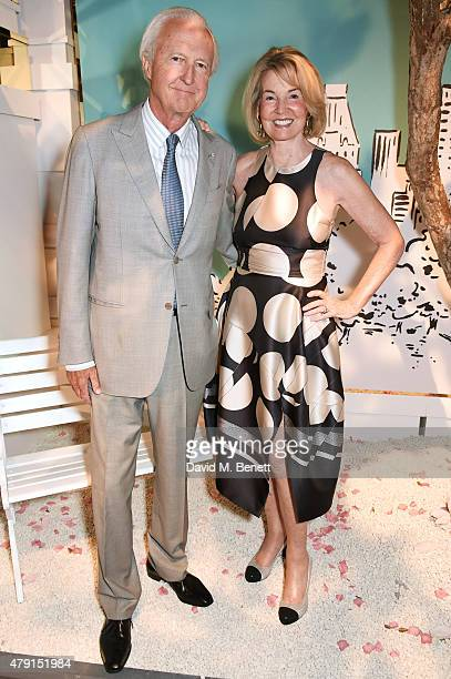 Galen Weston and Hilary Weston attend the Tiffany Co immersive exhibition 'Fifth 57th' at The Old Selfridges Hotel on July 1 2015 in London England