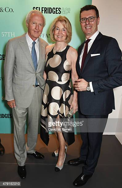 Galen Weston Hilary Weston and Barratt West Tiffany Co VP and Managing Director UK and Ireland attend the Tiffany Co immersive exhibition 'Fifth...