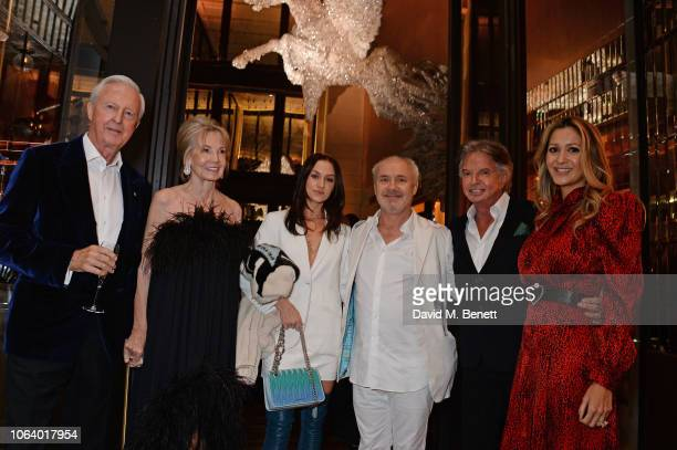 Galen Weston Hilary Weston Sophie Cannell Damien Hirst Richard Caring and Patricia Caring attend the launch of new restaurant Brasserie Of Light at...