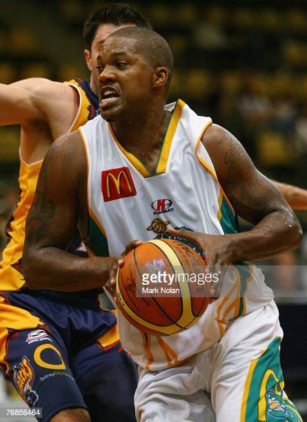 Galen Young of Townsville in action during the round one NBL match between the West Sydney Razorbacks and the Townsville Crocodiles at the Sydney...