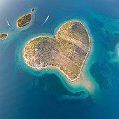 Galešnjak, hart Love eiland, Kroatië
