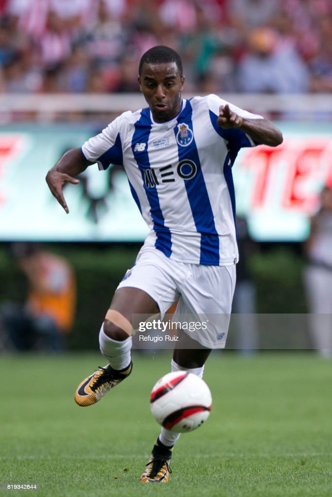 Galeno of Porto drives the ball during the friendly match between Chivas and Porto at Chivas Stadium on July 19, 2017 in Zapopan, Mexico.