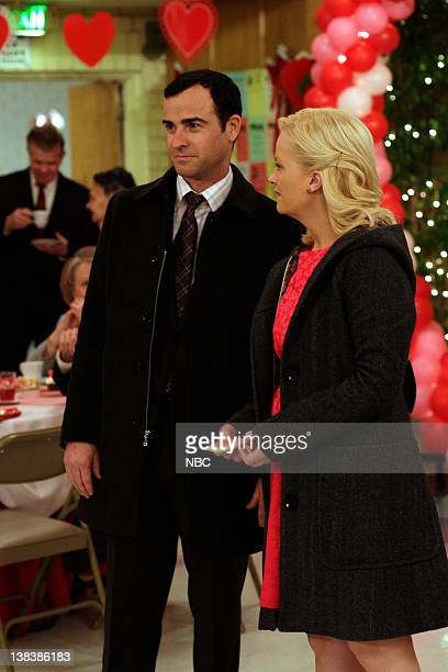 RECREATION 'Galentine's Day' Episode 216 Pictured Justin Theroux as Justin Anderson Amy Poehler as Leslie Knope