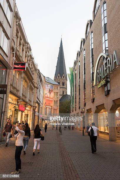 Galeria Kaufhof in Remigiusstrasse, old part of town, Bonn, Germany, 08 September 2014. Bonn, that offers many touristic attractions, was founded in...