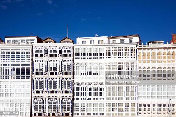 Galerias building at A Coruña, Galicia. Spain.