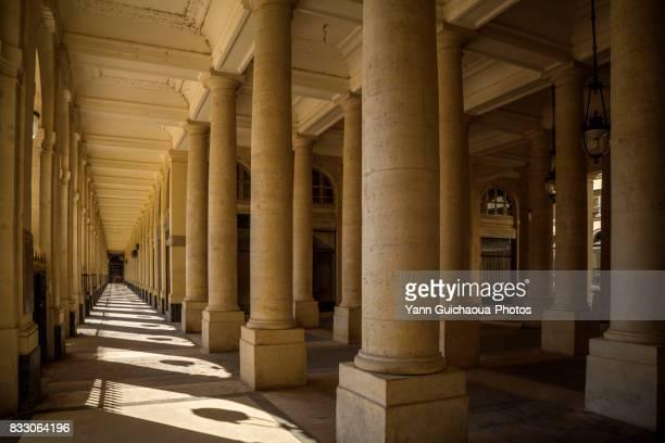 galerie de beaujolais, palais royal,1st arrondissement,  paris, france - palais royal stock photos and pictures