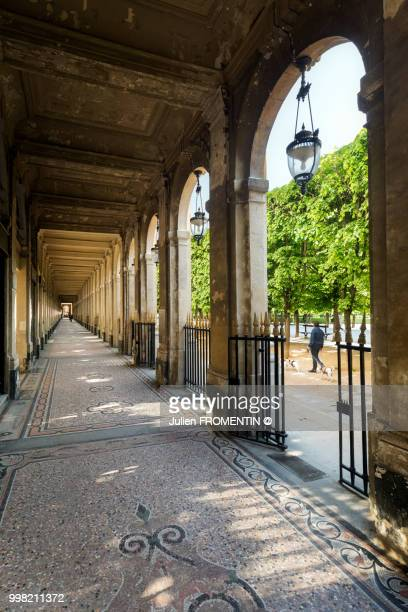 galerie du palais-royal, paris - palais royal stock pictures, royalty-free photos & images