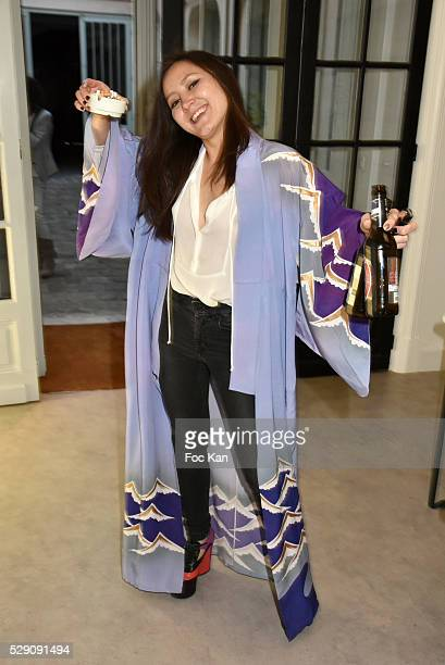 """Galerie Outcasts Incorporated PR Ada Yu attends the """"Overlaps"""" Thomas Lelu Exhibition Unhooking Party at Galerie Outcasts Incorporated on May 7, 2016..."""