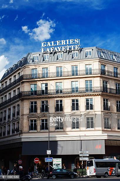 galeries lafayette - galeries lafayette paris stock photos and pictures