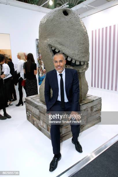 Galerist Kamel Mennour attends the FIAC 2017 International Contemporary Art Fair Press Preview at Le Grand Palais on October 18 2017 in Paris France