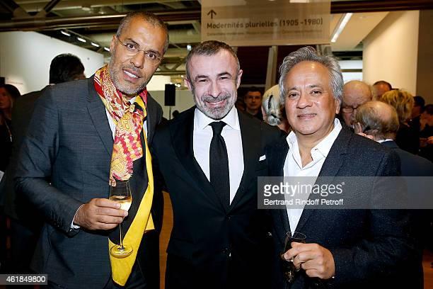 Galerist Kamel Mennour President of Centre Pompidou Alain Seban and Anish Kapoor attend the 'Societe des Amis du Musee National d'Art Moderne' Dinner...