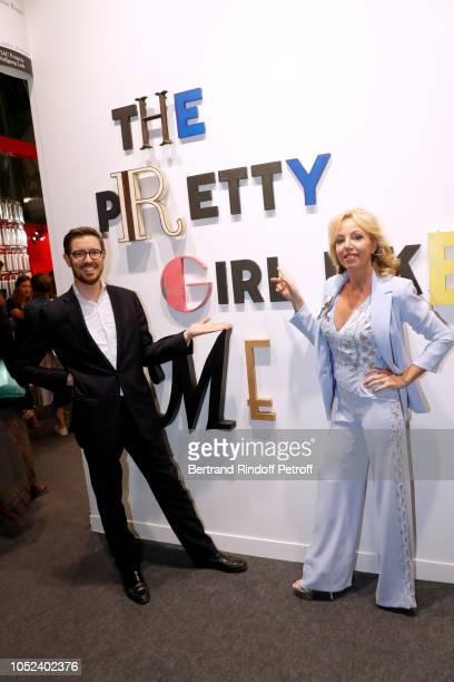 Galerist Pierre Alain Challier and Princess Camilla Duchess of Castro attend the FIAC 2018 International Contemporary Art Fair Press Preview at Grand...