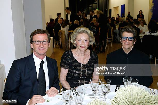 Galerist Thaddaeus Ropac Ariane Dandois and Artist Robert Longo attend the Societe des Amis du Musee d'Art Moderne du Centre Pompidou Dinner Party...