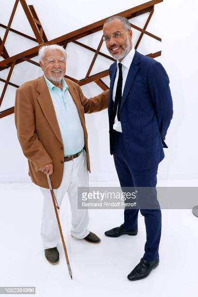 Galerists Herve Odermatt and Kamel Mennour attend the FIAC 2018 International Contemporary Art Fair Press Preview at Grand Palais on October 17 2018...
