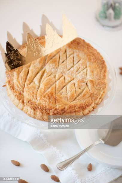 galette des rois - epiphany stock photos and pictures