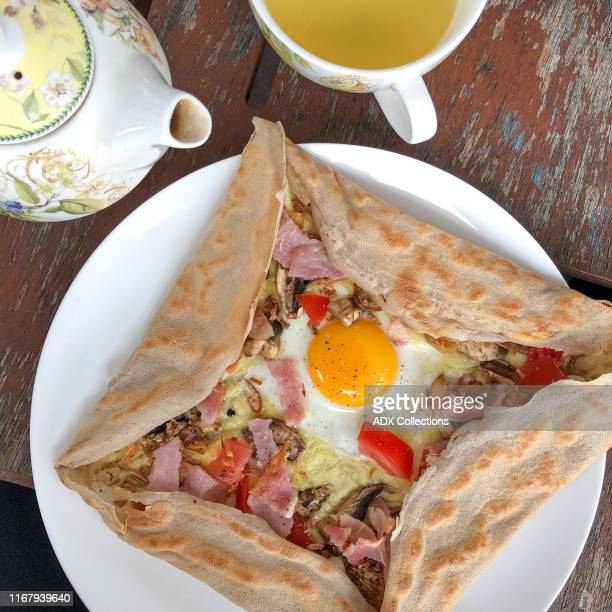 galettes - savoury crepe - wellington new zealand stock pictures, royalty-free photos & images