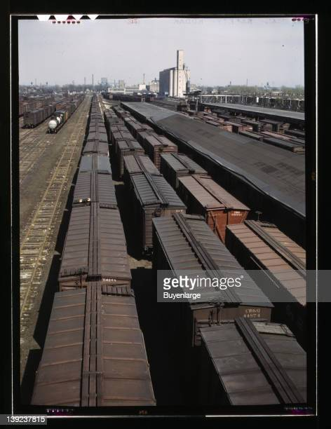 Galewood yard of the Chicago Milwaukee Street Paul and Pacific Railroad 1943