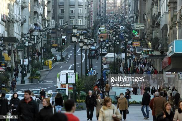 Galicia Pontevedra Vigo Urzaiz street
