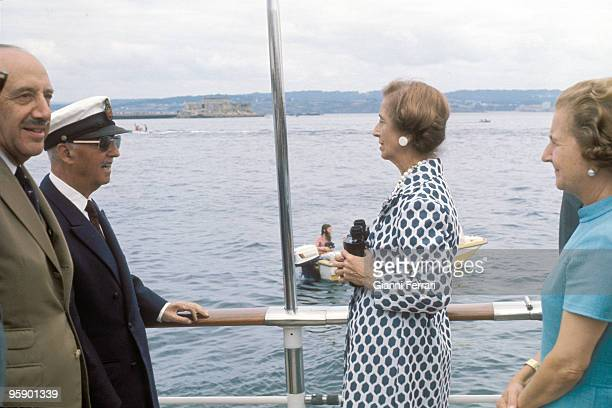 Galicia Spain Francisco Franco with its wife Carmen in the yatch the 'Azor'