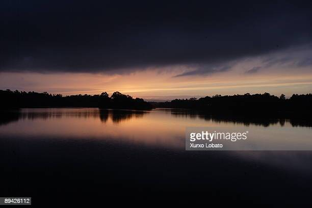 Galicia Sunset at river in Cecebre Coruna Cambre