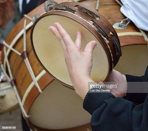 galician tambourine - fete fotografías e imágenes de stock