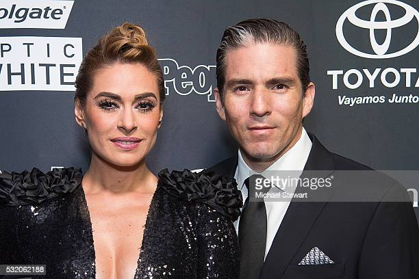 Galilea Montijo and Fernando Reina Iglesias attend People En Espanol '50 Most Beautiful' at Espace on May 17 2016 in New York City