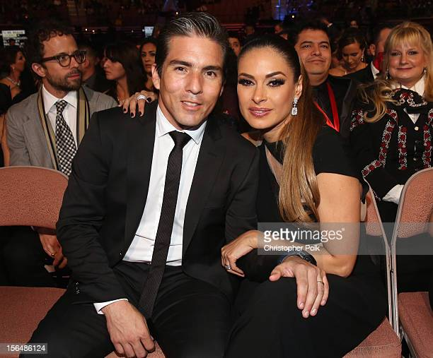 Galilea Montijo and husband Fernando Reina in the audience at the 13th annual Latin GRAMMY Awards held at the Mandalay Bay Events Center on November...