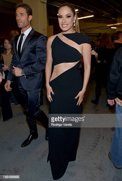 Galilea Montijo and Sebastian Rulli attends the 13th annual Latin GRAMMY Awards held at the Mandalay Bay Events Center on November 15 2012 in Las...