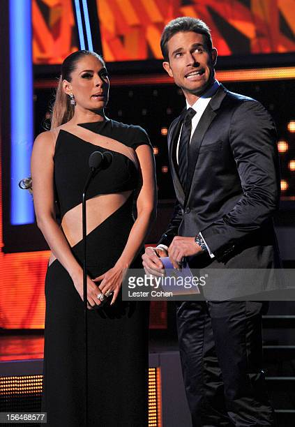 Galilea Montijo and Sebastian Rulli onstage during the 13th annual Latin GRAMMY Awards held at the Mandalay Bay Events Center on November 15 2012 in...
