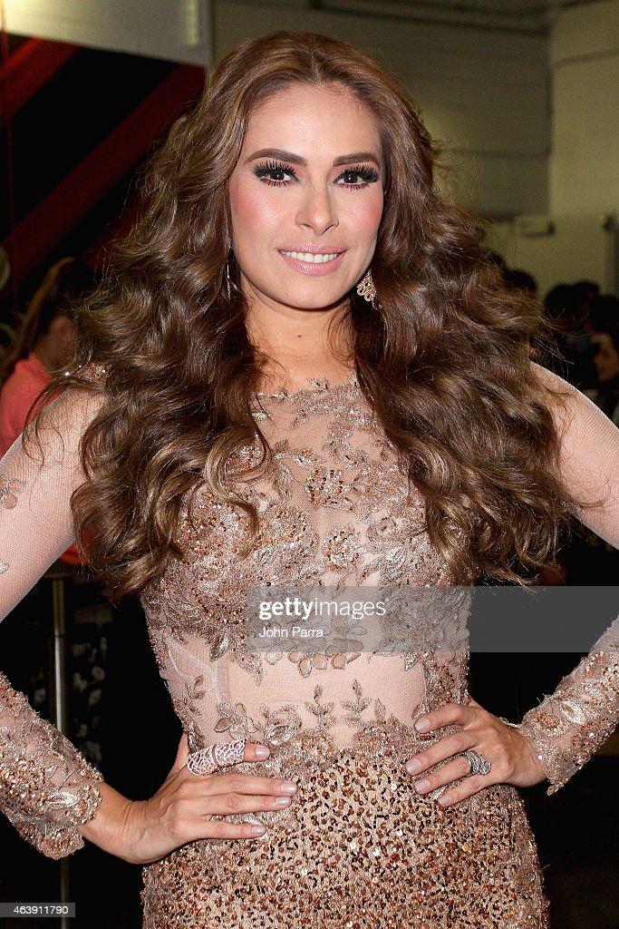 Galilea Montijo attends the 2015 Premios Lo Nuestros Awards at American Airlines Arena on February 19, 2015 in Miami, Florida.