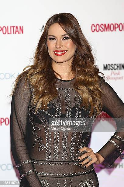 Galilea Montijo attends the Cosmopolitan Magazines 40th Anniversary celebration at the Westin Hotel on October 4 2012 in Mexico City Mexico
