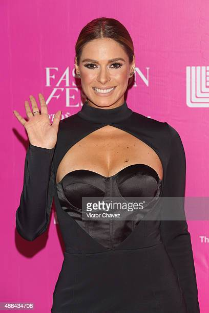 Galilea Montijo attends the Liverpool Fashion Fest Autumn/Winter 2015 at Televisa San Angel on September 3 2015 in Mexico City Mexico