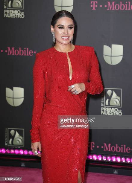 Galilea Montijo attends Univision's 31st Edition Of Premio Lo Nuestro A La Musica Latin at American Airlines Arena on February 21 2019 in Miami...