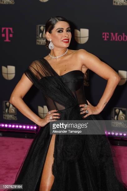 Galilea Montijo attends Univision's Premio Lo Nuestro 2020 at AmericanAirlines Arena on February 20 2020 in Miami Florida